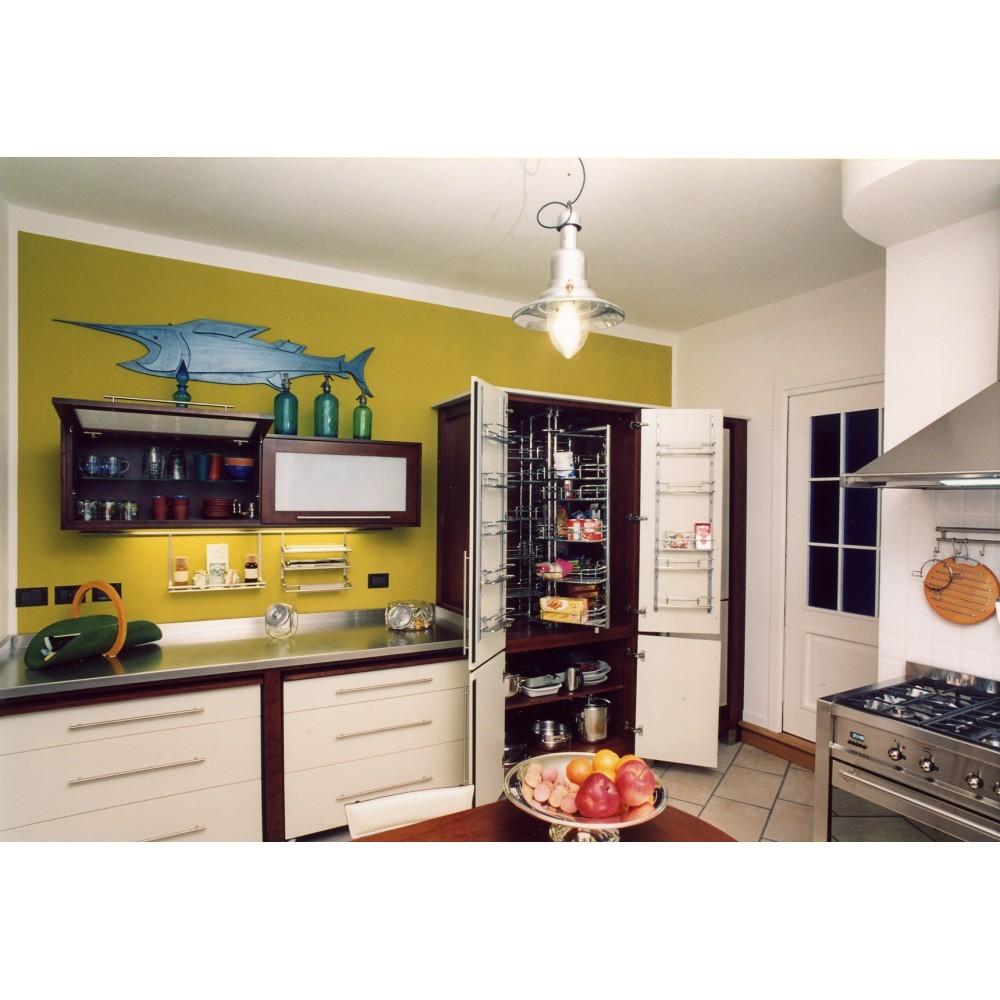 Cucine su misura cucina in ciliegio tinto noce ed avorio con top - Cucine in ciliegio ...