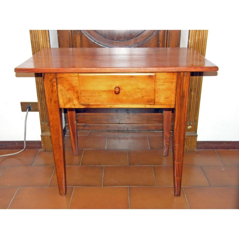 Tavolino antico epoca 800 in legno di larice