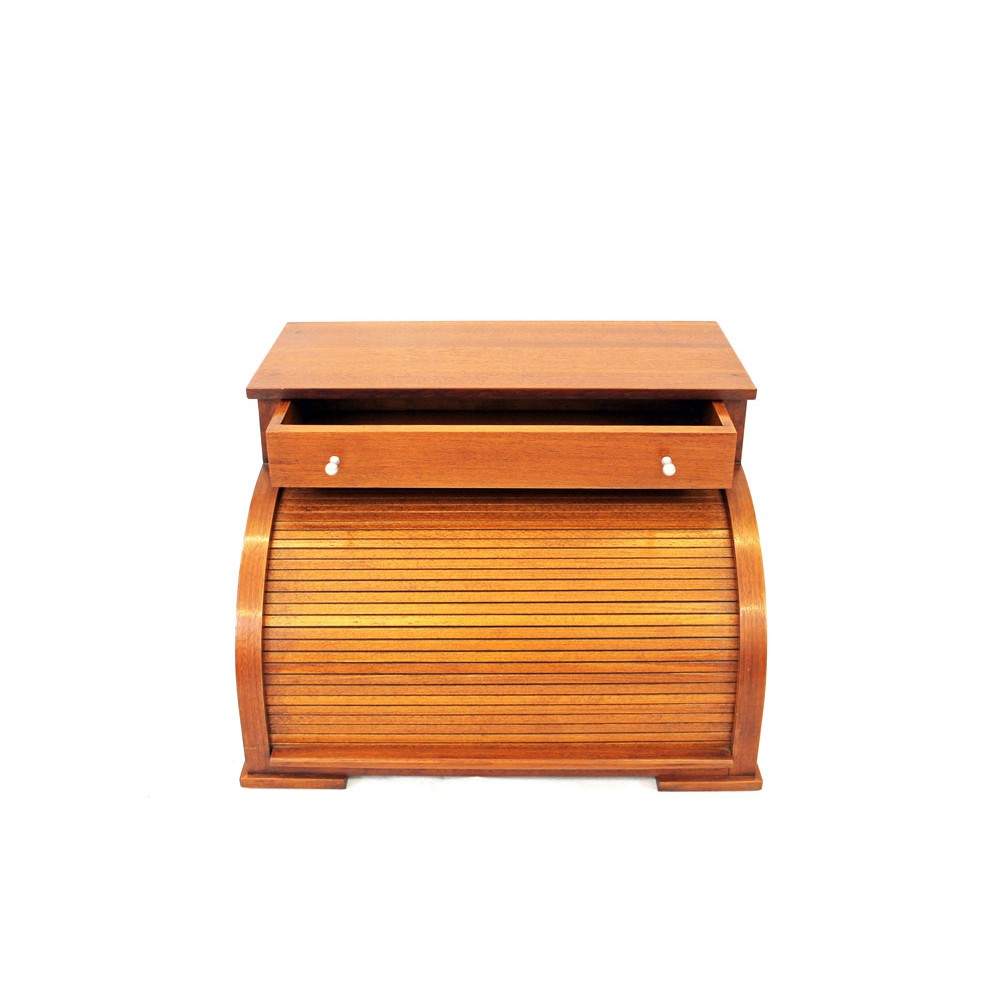 Oggetti design portagioie con rullo in legno di aframosia - Oggetti di design in legno ...