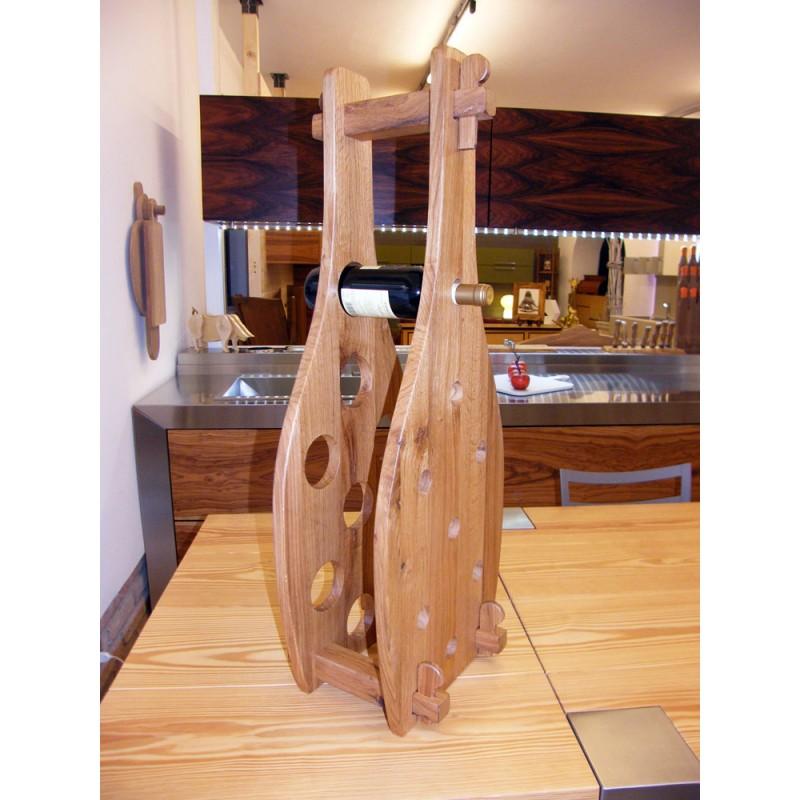 Oggetti Design : Portabottiglie in legno di Quercia antica