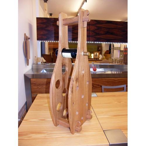Portabottiglie in legno di Quercia antica