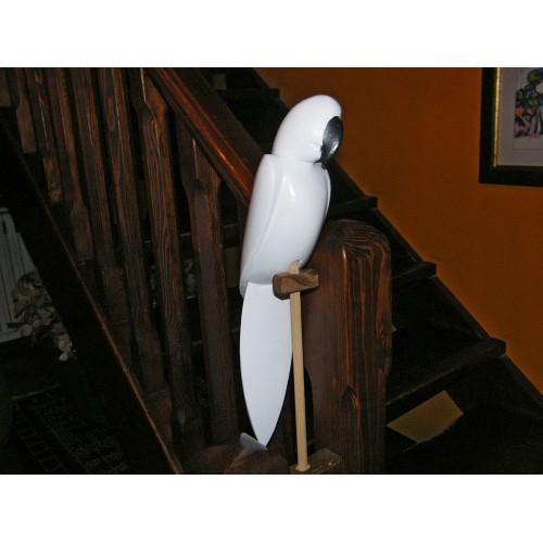 pappagallo in legno laccato