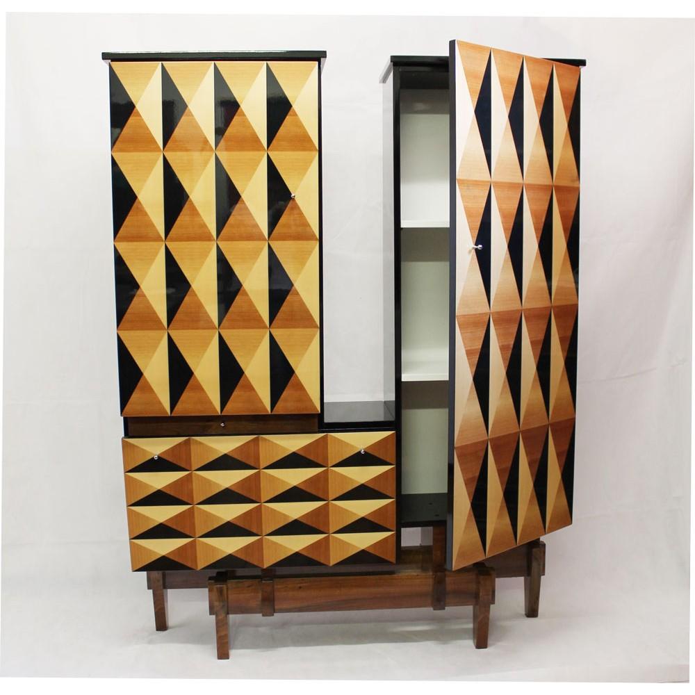 mobili soggiorno : mobile anni 70 in noce massello - Soggiorno Noce Massello