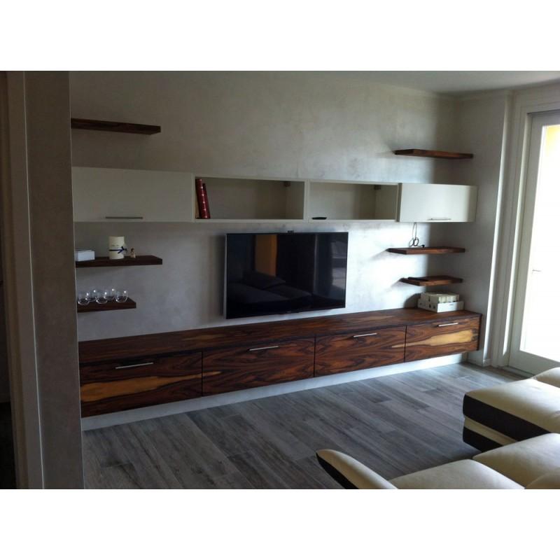 Mobili soggiorno : Zona living in palissandro e rovere cenere